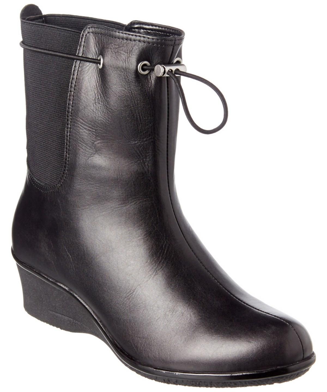 Taryn Rose Amir Waterproof Leather Boot In Black