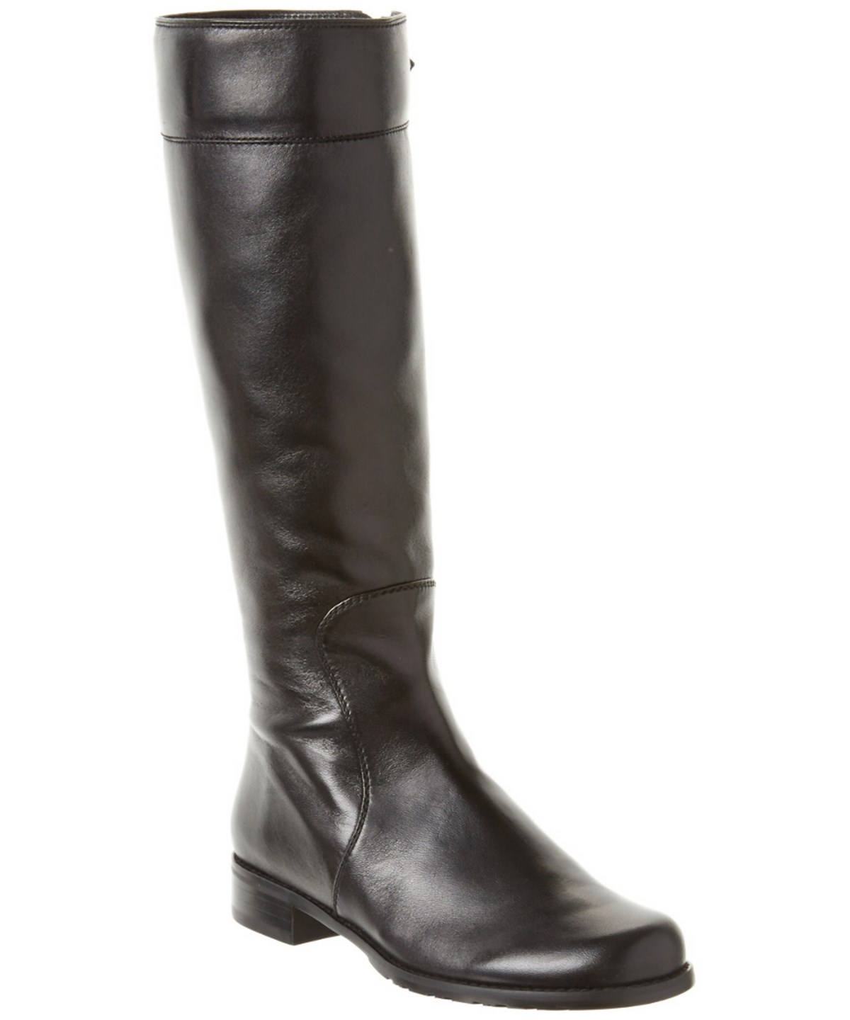 Stuart Weitzman Traveler Leather Boot In Black
