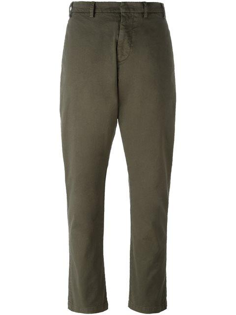 N°21 No21 - Relaxed Fit Trousers  In Green