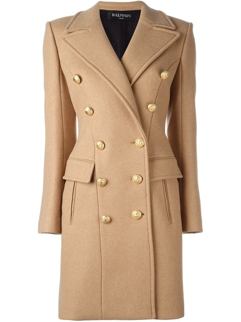 Balmain Virgin Wool And Cashmere Coat In Saed