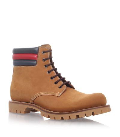 0fbbdd4ba Gucci Marland Suede Hiking Boot W/Web Detail In Tan | ModeSens
