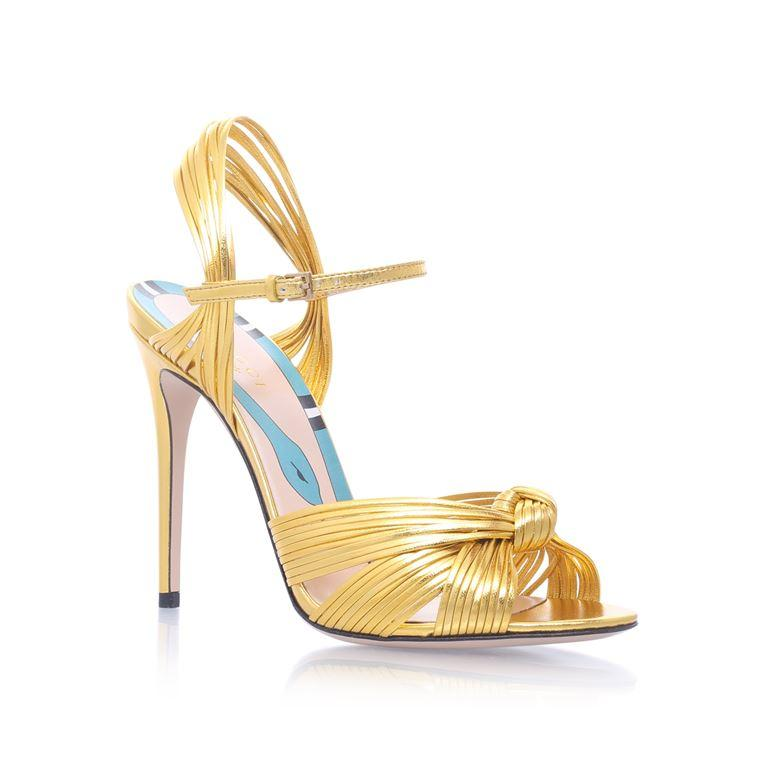 9095ecf7cc30 Gucci Allie Knotted Strappy Sandal