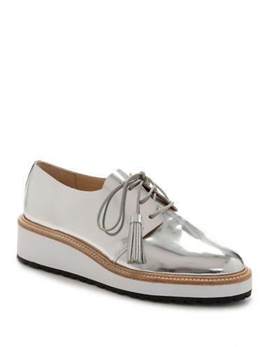 eda91ee2eb1 Loeffler Randall Callie Metallic Leather Oxford Shoes