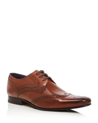 Ted Baker Hann 2 Leather Derby Brogues In Tan