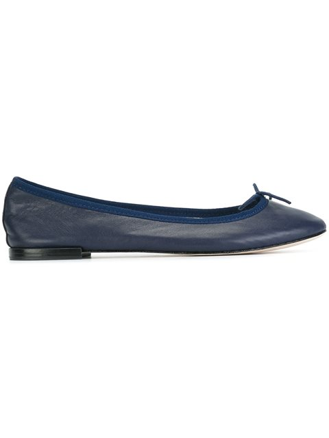 Repetto Cendrillon Leather Ballerina Flat In Blue