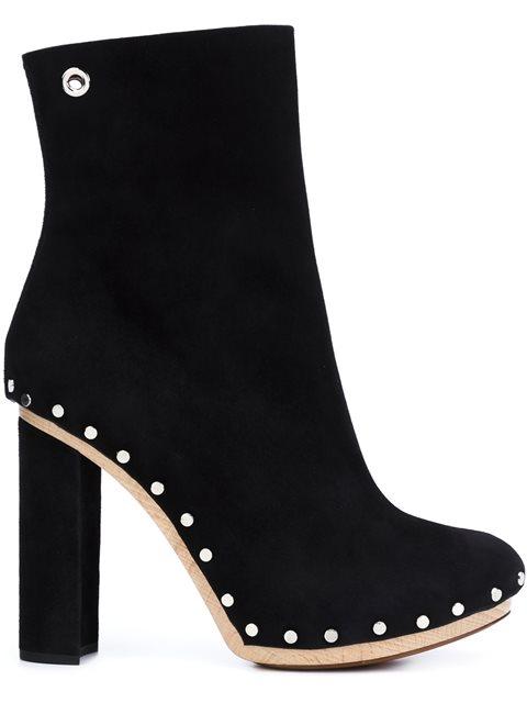 Proenza Schouler Stud-embellished Suede Ankle Boots In Black