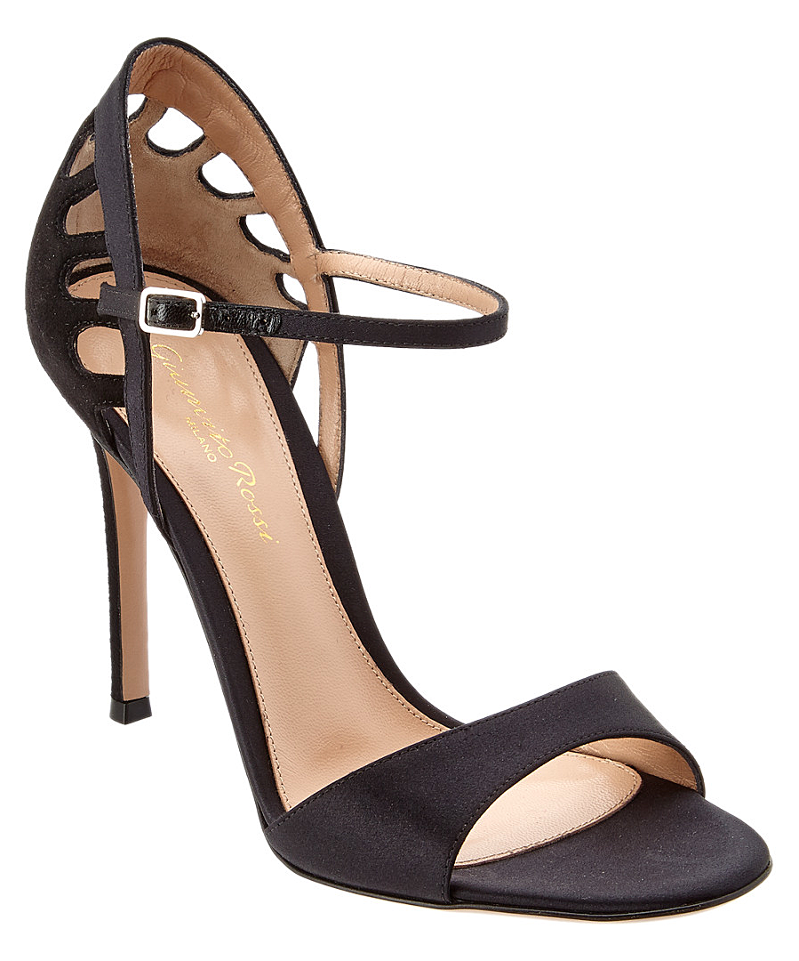 Gianvito Rossi 100 Cut Out Heeled Sandal' In Black