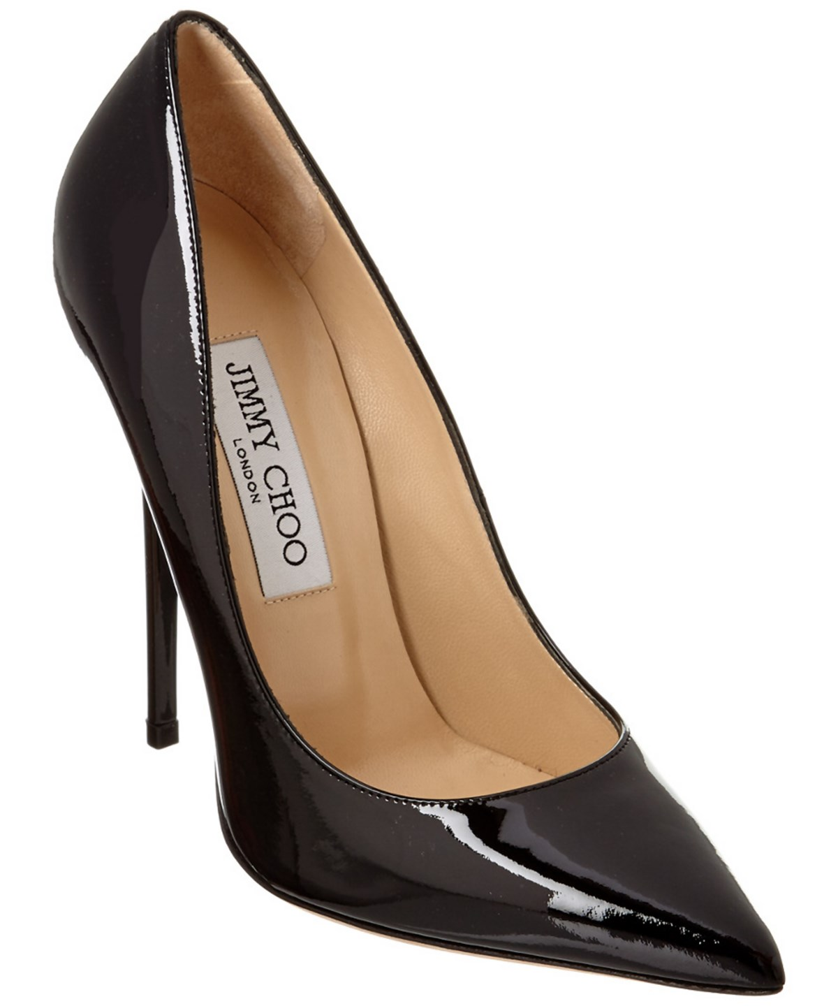 Jimmy Choo Anouk Patent Pointy-toe Pump In Black