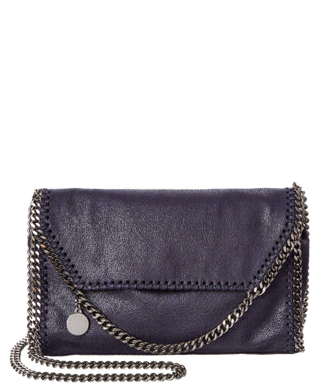 Stella Mccartney Falabella Shaggy Deer Mini Bag In Blue