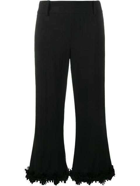 Creatures Of The Wind Fringed Flared Trousers In Black