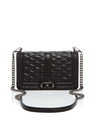 Rebecca Minkoff Quilted Love Leather Crossbody Bag In Moon