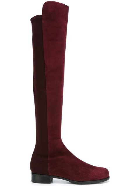 Stuart Weitzman Women's Gams Stretch Suede Over-the-knee Boots In Kordeaux