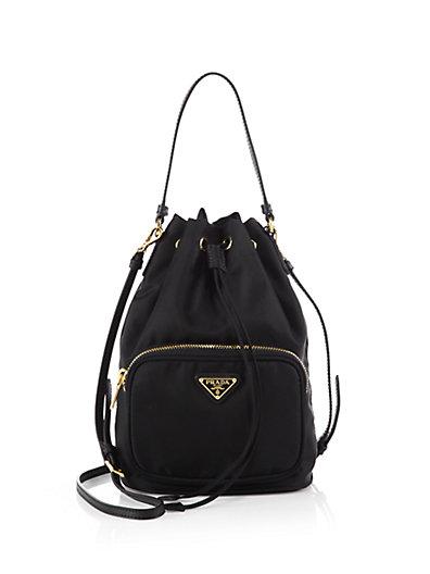 ef8f6d11d2249f Prada Tessuto Mini Bucket Crossbody Bag, Black (Nero) | ModeSens