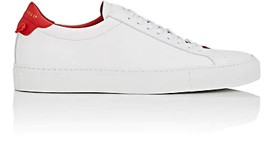 Givenchy Men's Urban Street Leather Low-Top Sneakers In White