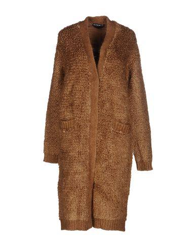 Rochas Knitted Jacquard Back Coat In Camel