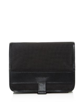 Longchamp Nyltec Hanging Toiletry Bag In Black
