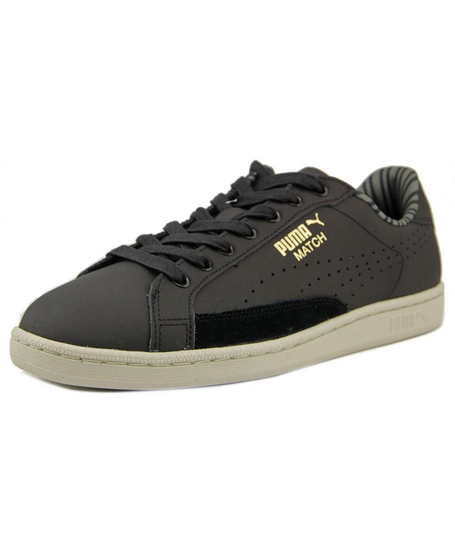 Puma Match 74 Citi Series Nm Men  Round Toe Leather Black Sneakers
