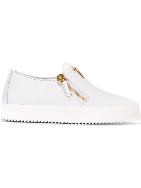 fd29a7d73a440 Giuseppe Zanotti 'Eve' Slip-On Sneakers In White | ModeSens