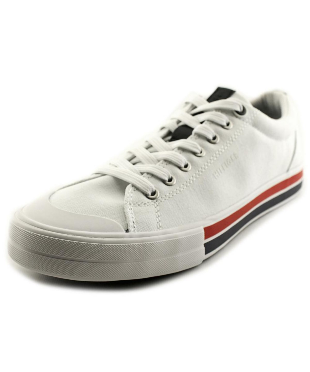Tommy Hilfiger Reno Men Round Toe Canvas White Sneakers