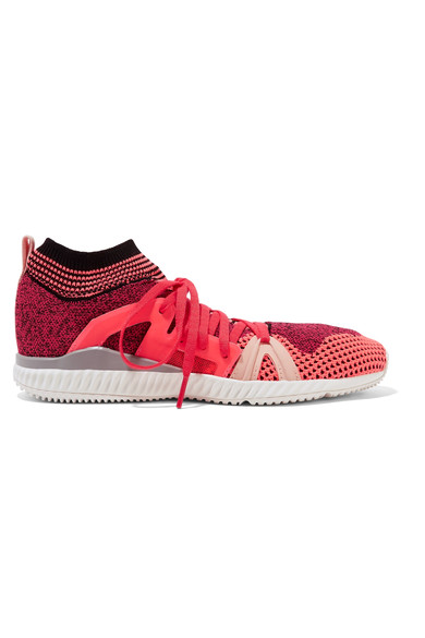 4f1beabed Adidas By Stella Mccartney Crazymove Bounce Sneakers In Pink Passion    Turbo   Red