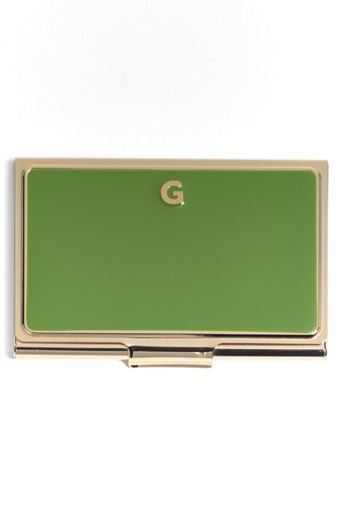 Kate Spade 'one In A Million' Business Card Holder In G