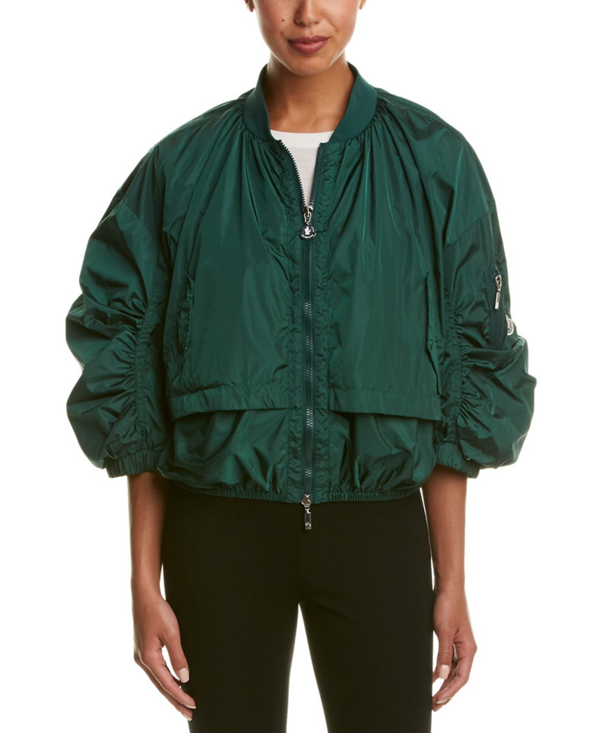 Moncler Pully Bomber Jacket In Green