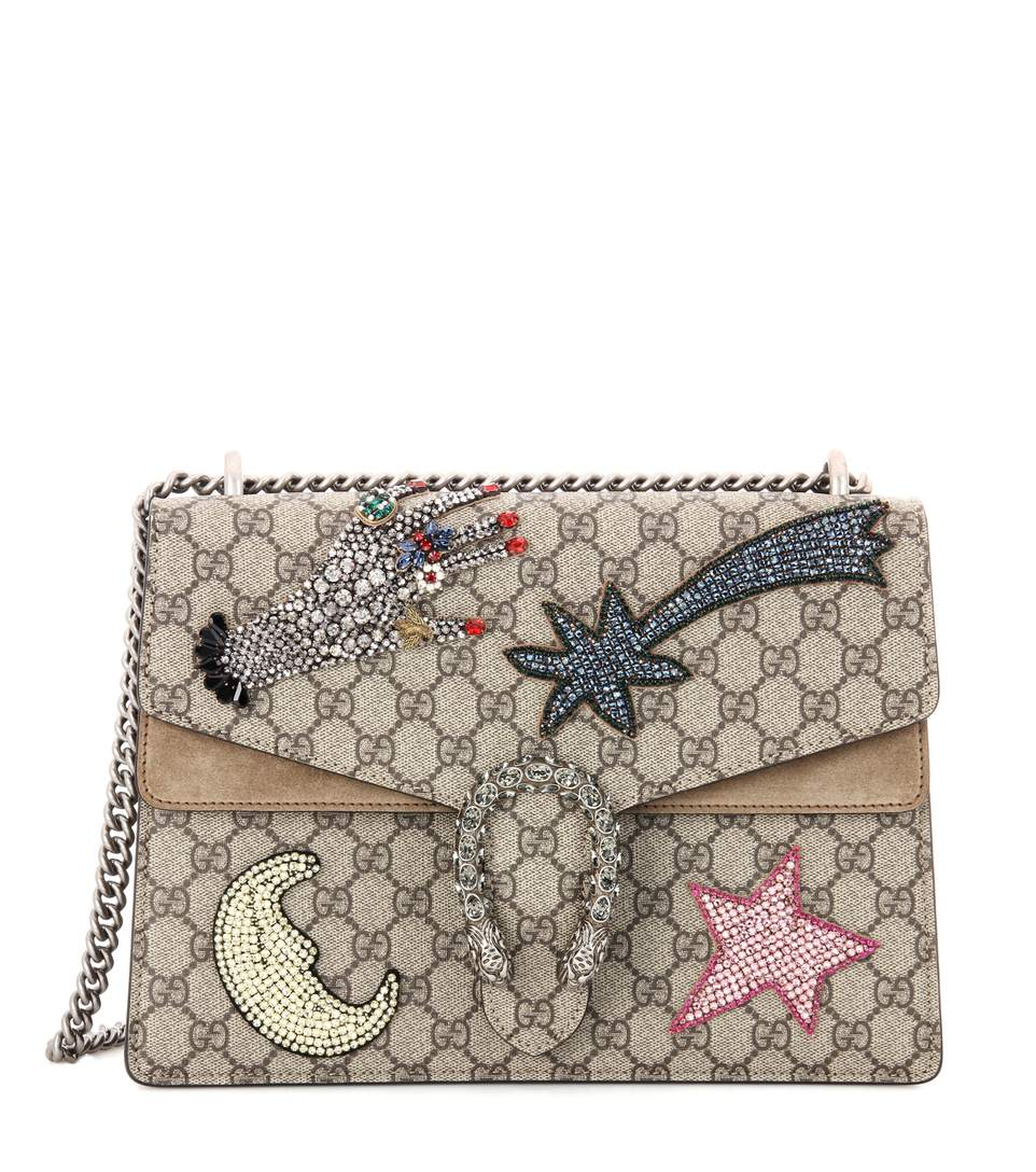 bb8f00c6ac9 Gucci Dionysus Medium Gg Supreme Sequin-Embroidered Shooting Star Bag In  Beige-Multi