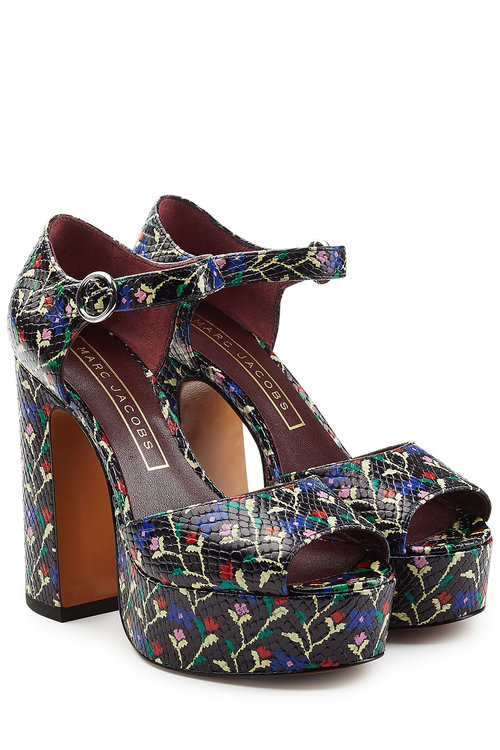 51de2befe23e2 Printed Leather Platform Sandals