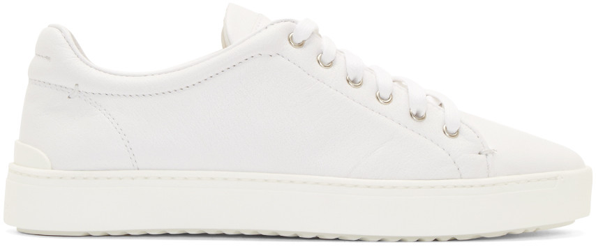 Rag & Bone Woman Leather-trimmed Mesh Sneakers White