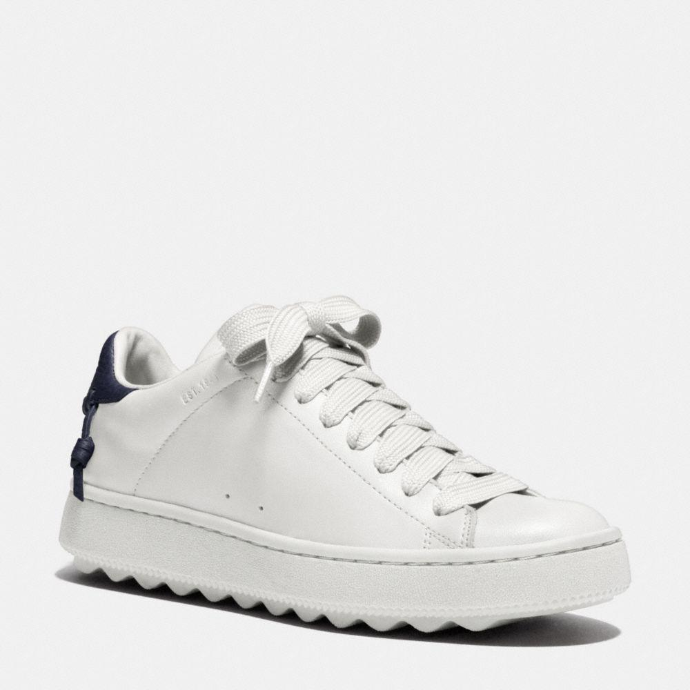 Coach 'c101' Leather Low Top Sneakers In White