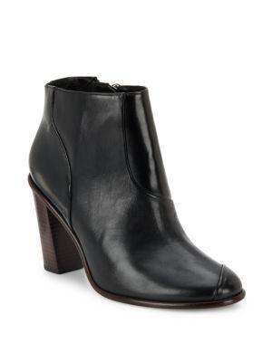 Tibi Naomi Leather Booties In Black