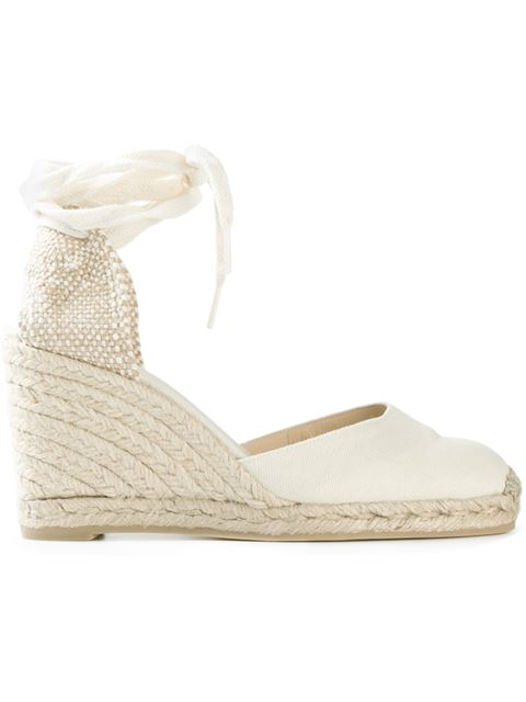 518c2234f64d CastaÑEr Carina 60 Canvas Wedge Espadrilles In Ivory