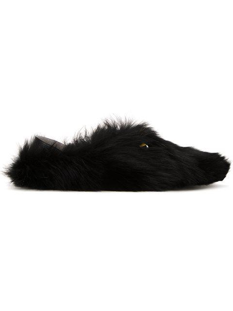 Fendi Black Monster Eyes Loafers