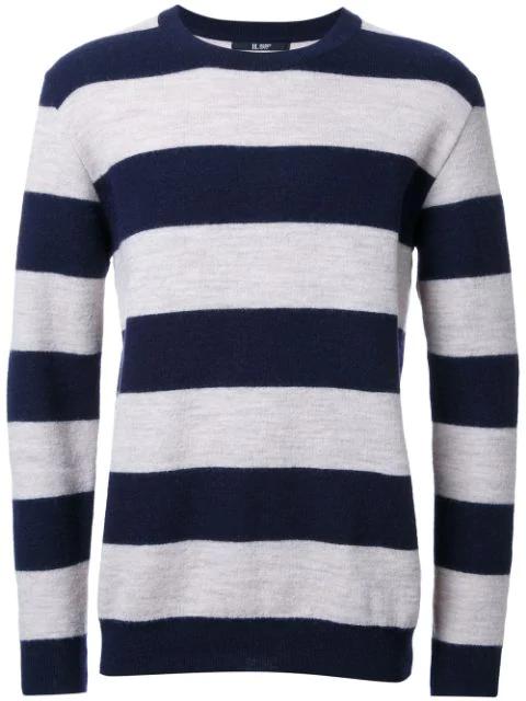 Hl Heddie Lovu Striped Knitted Jumper In Blue