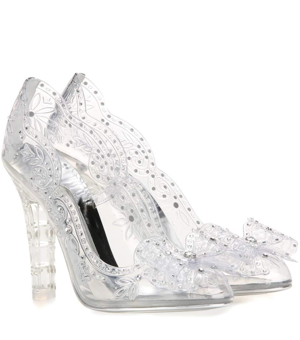 a0979fa0e5e Dolce   Gabbana Dolce And Gabbana Silver Crystal Cinderella Pumps ...