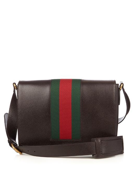 47ea9c9e26bd8 Gucci Textured Leather Messenger Bag W Web