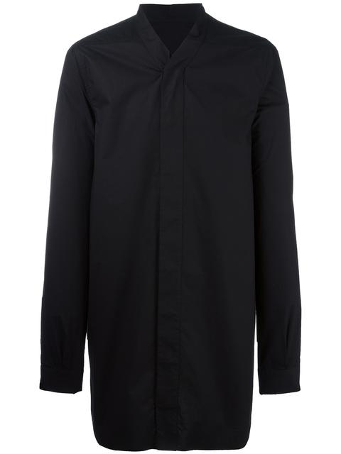 Rick Owens Solid Color Shirt In Black