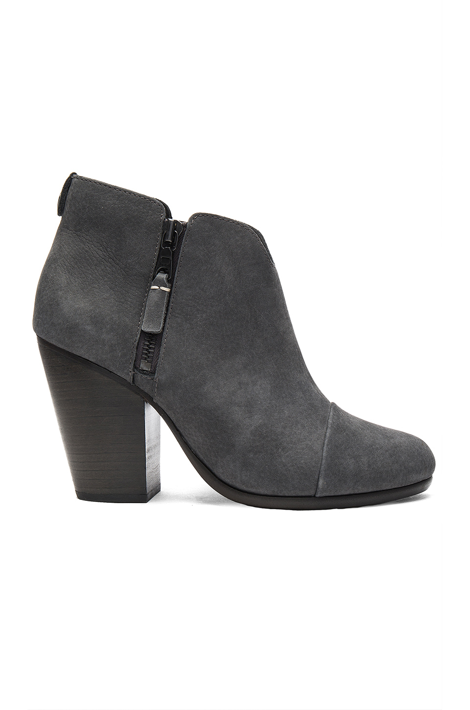 Rag & Bone Margot Nubuck Leather Ankle Boots In Charcoal-grey