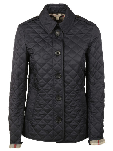 Burberry Kencott Quilted Jacket In Black
