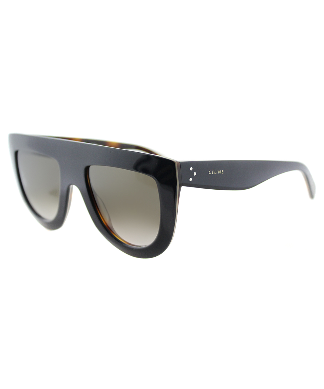 Celine Andrea Fashion Plastic Sunglasses In Blue On Beige Havana