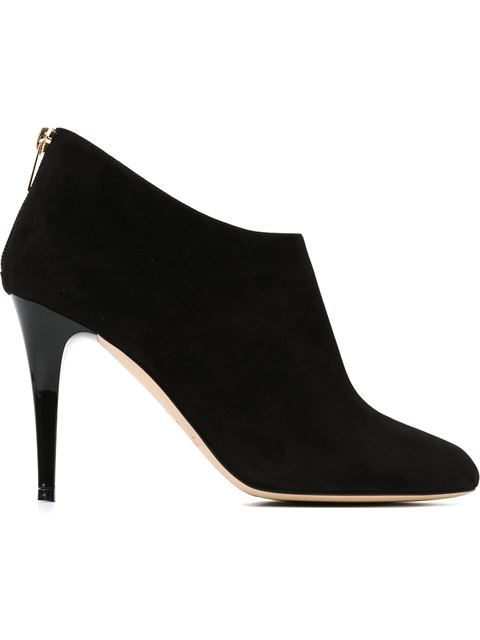 Jimmy Choo Black Suede 'Mendez' Stiletto Ankle Boots