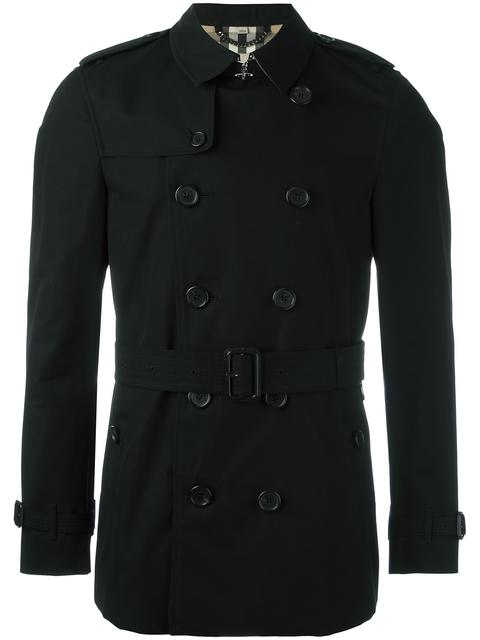 Burberry The Mid-length Kensington Heritage Trench Coat In Black
