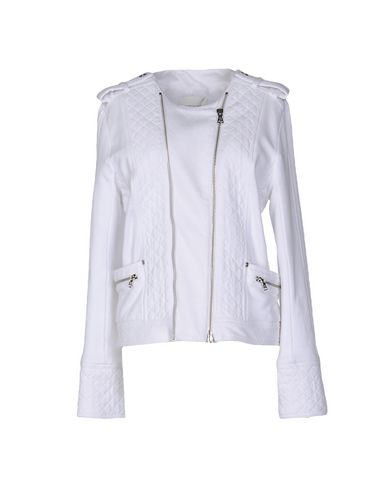c597223295 Pierre Balmain Woman Quilted Cotton-Jersey Biker Jacket White | ModeSens
