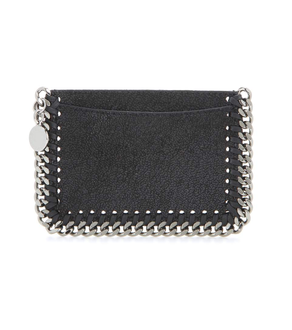 Stella Mccartney Falabella Card Holder In Llack