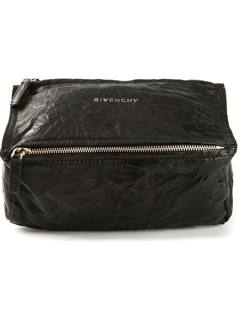 Givenchy 'mini Pepe Pandora' Leather Shoulder Bag - Black In 001 Black