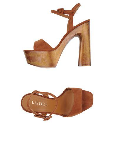 Le Silla Sandal In Powder, Caramel Suede Calfleather H.130 Mm
