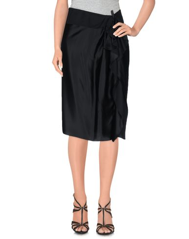 Lanvin Knee Length Skirt In Black