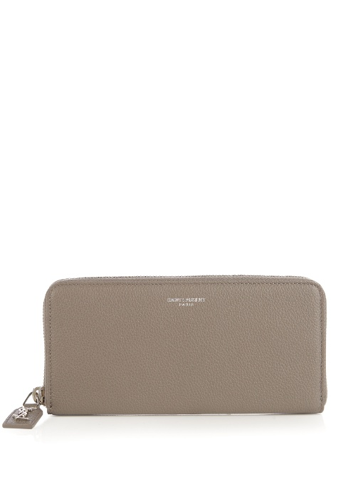 Saint Laurent Grained-Leather Continental Wallet In Brown