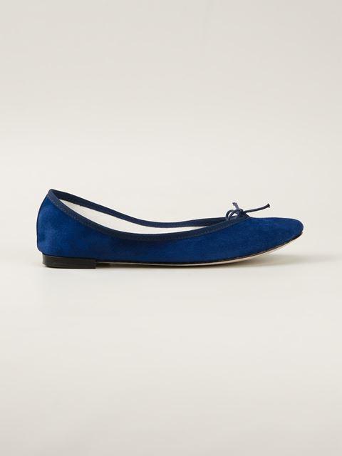 Repetto Blue Goatskin Suede Cendrillon Ballerina Flat