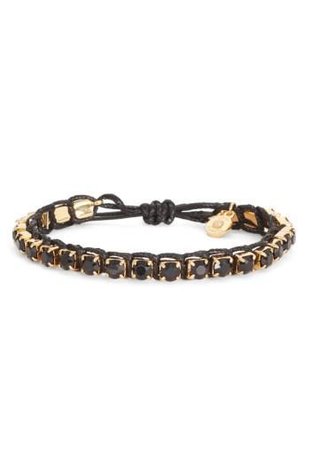 Tory Burch Friendship Bracelet In Black / Tory Gold